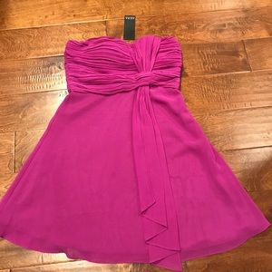 Beautiful draped strapless cocktail dress - M